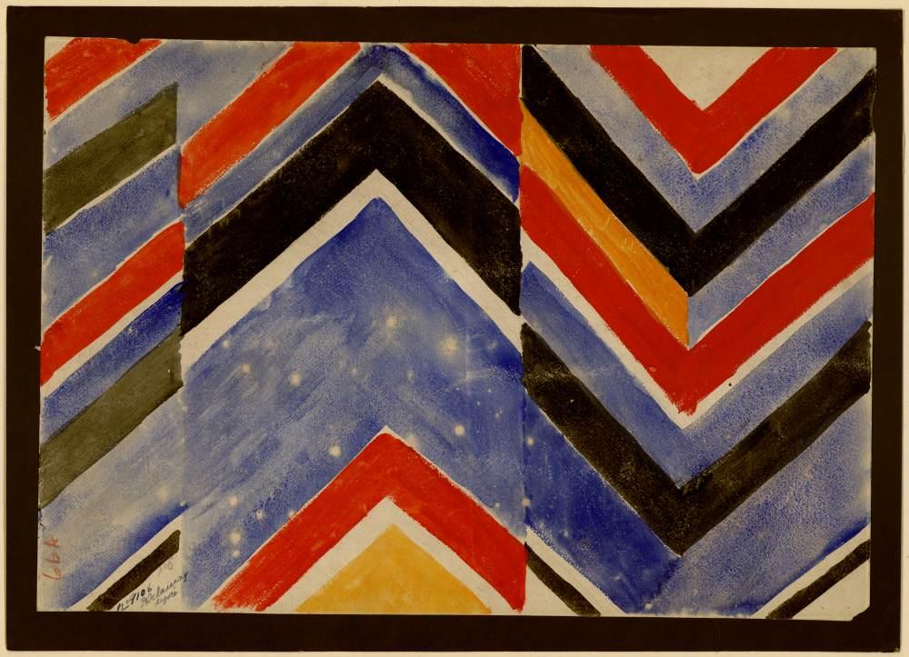 Projet de tissu simultané n° 6, Sonia Delaunay, 1924,